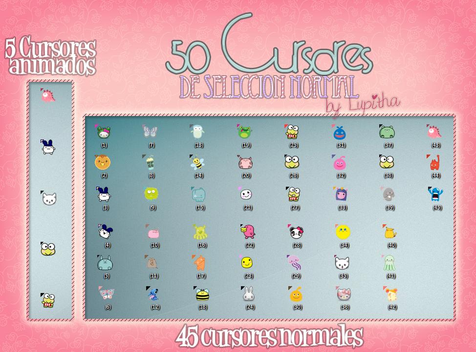 50 Cursores nuevos ] by tutorialeslupitha Cool stuff
