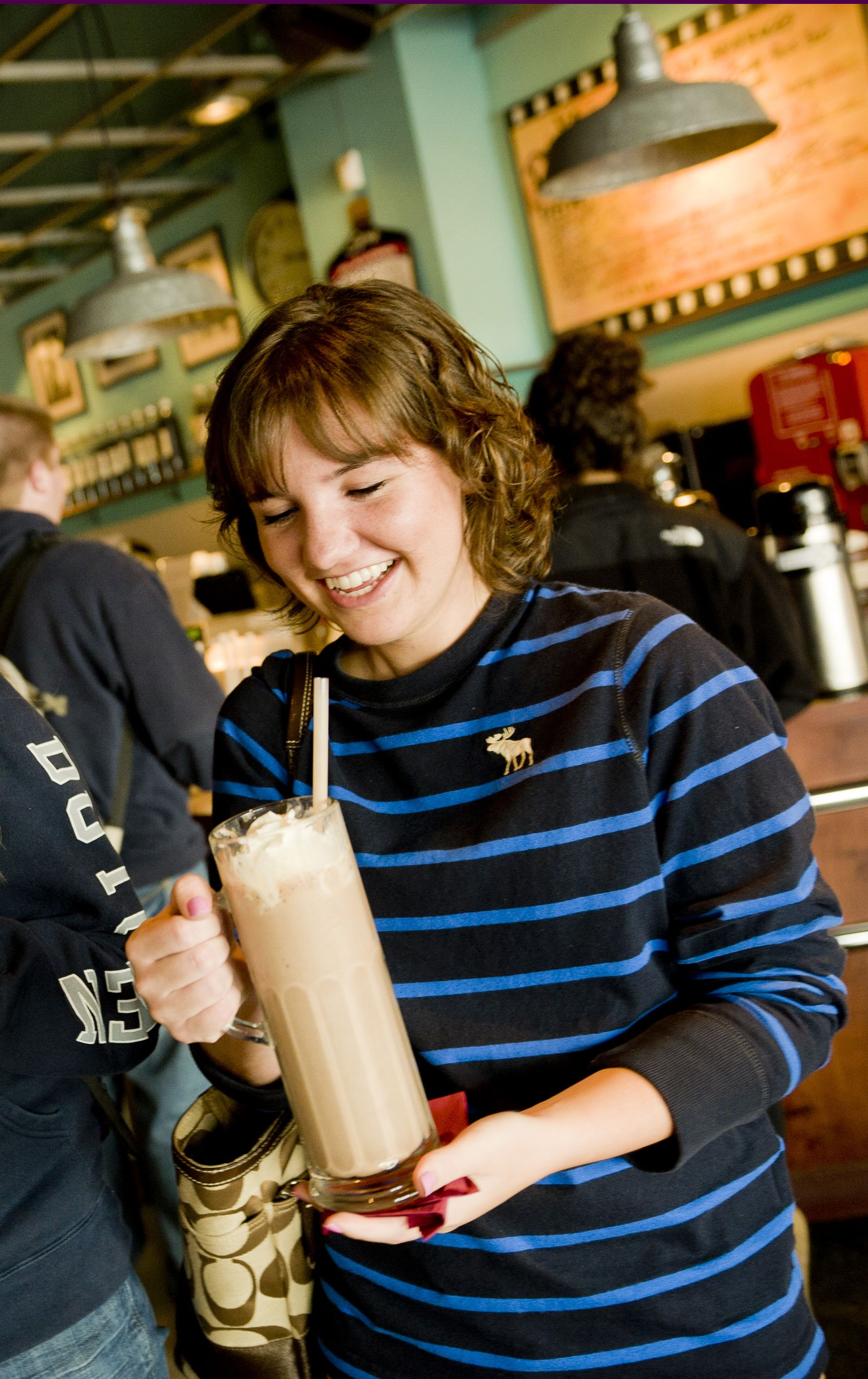 Stop by MJ's Coffeehouse for a delicious milkshake ...