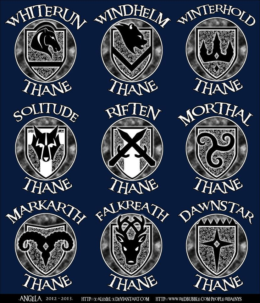 Skyrim Emblems By X Alexiel X Runes Glyphs Skyrim Elder