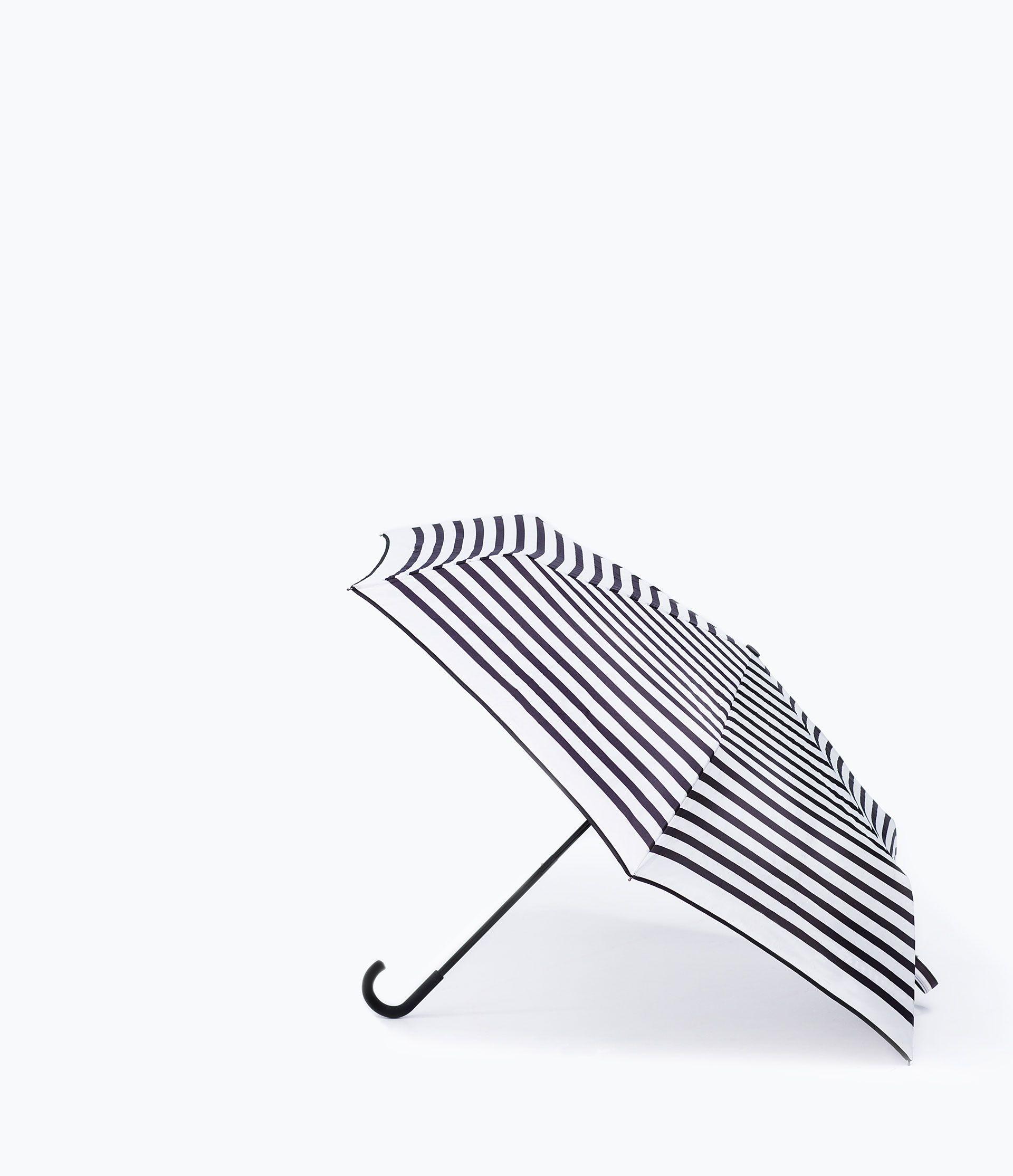 Zara Black And White Striped Umbrella