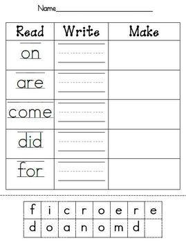 79+ Writing Sight Word Worksheets