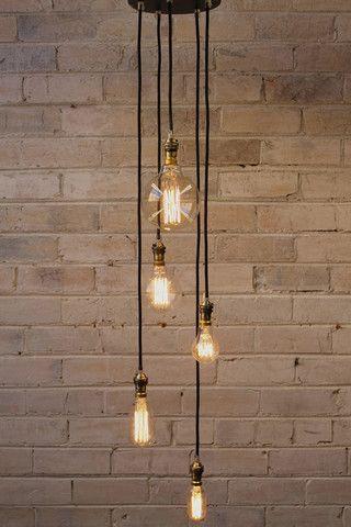 Ceiling Pendant Cord 5 Drop Ceiling Pendant Vintage Light Bulbs Stair Lighting Pendant