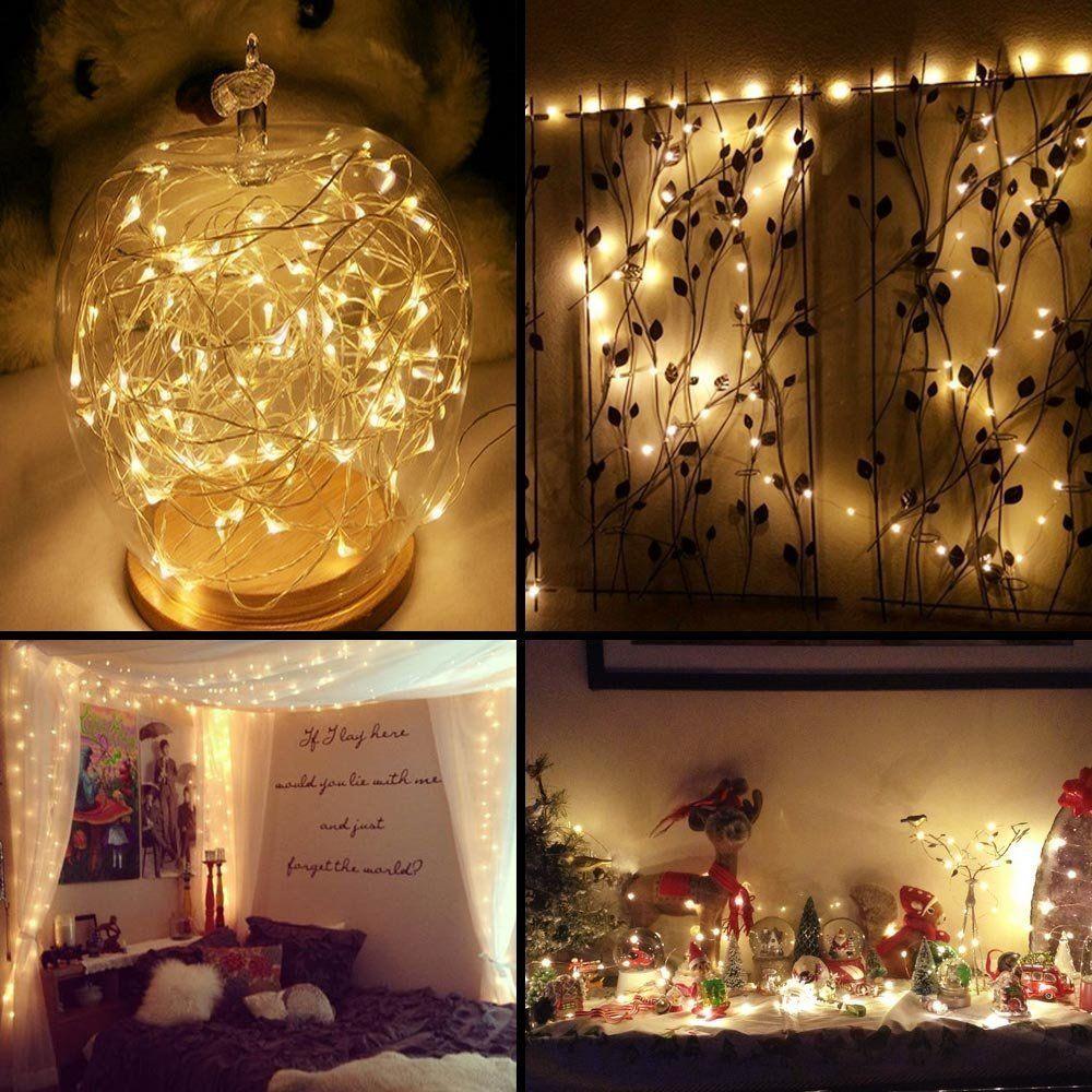 100LED Solar Copper Wire Waterproof Starry Fairy String Light Lamp Warm Decor