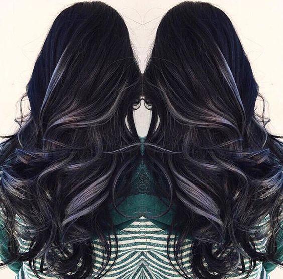 11 Best Black Hair With Highlights 2018 Beauty Hair Hair Styles