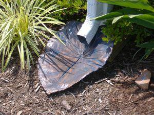 concrete leaves - Decorative Downspouts