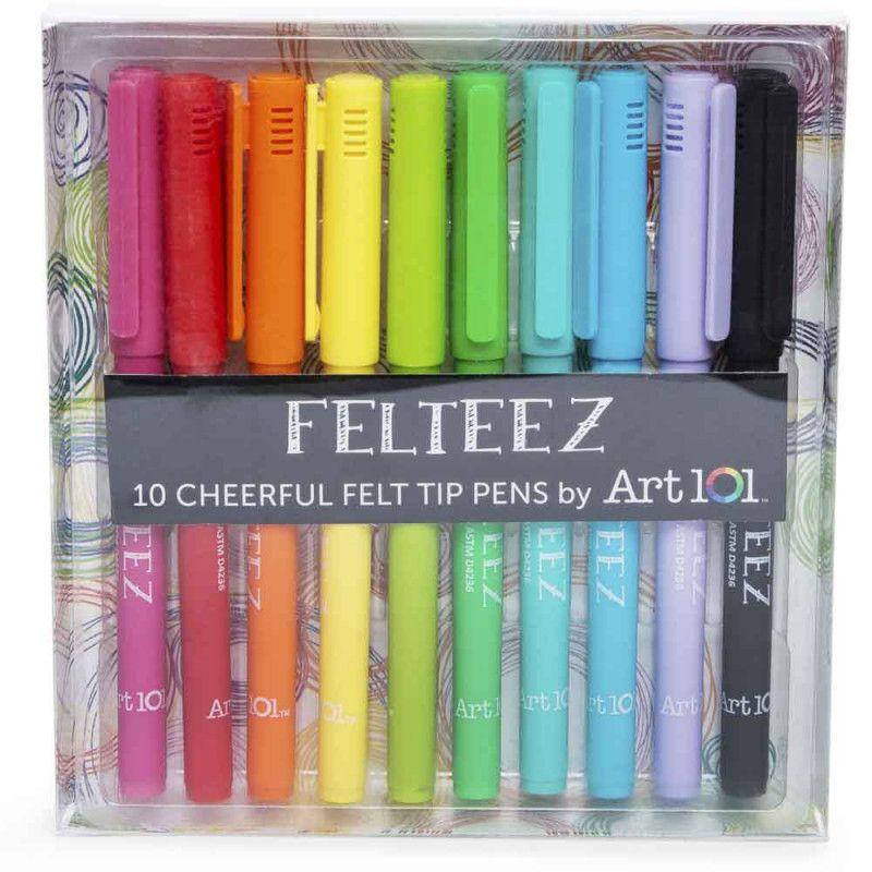 Art 101™ felteez™ felt-tip pens 10-pack in 2019 | Stationary