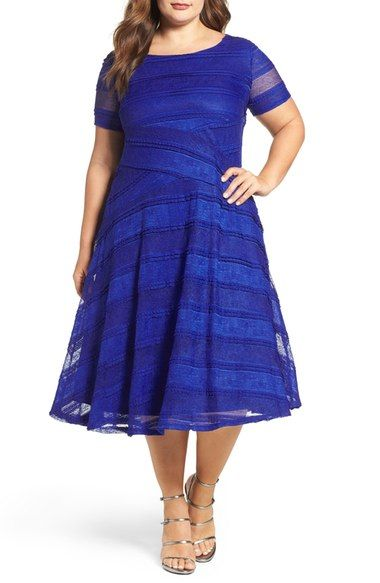 Sangria Lace Fit & Flare Dress Plus Size available at Nordstrom