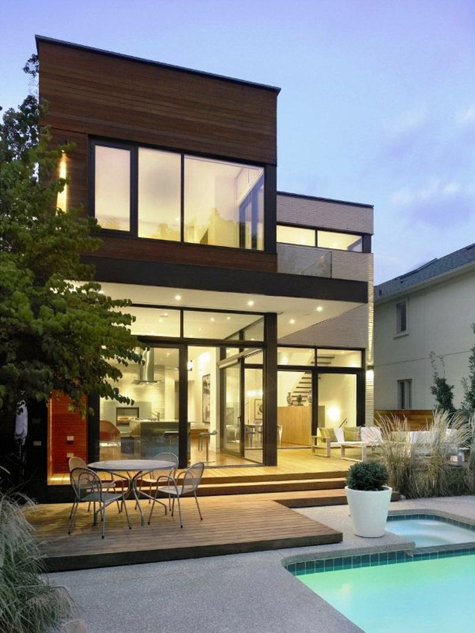 Cozy Beautiful Split House In Toronto Canada By Superkul Inc Architects House Design Photos House Design Pictures House Design