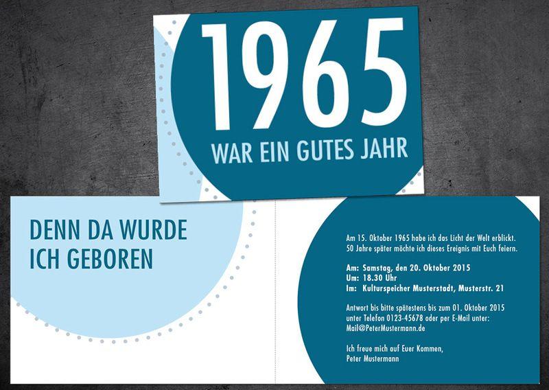 einladungen - einladung zum 50. geburtstag: jahr 1965 - ein, Einladungsentwurf