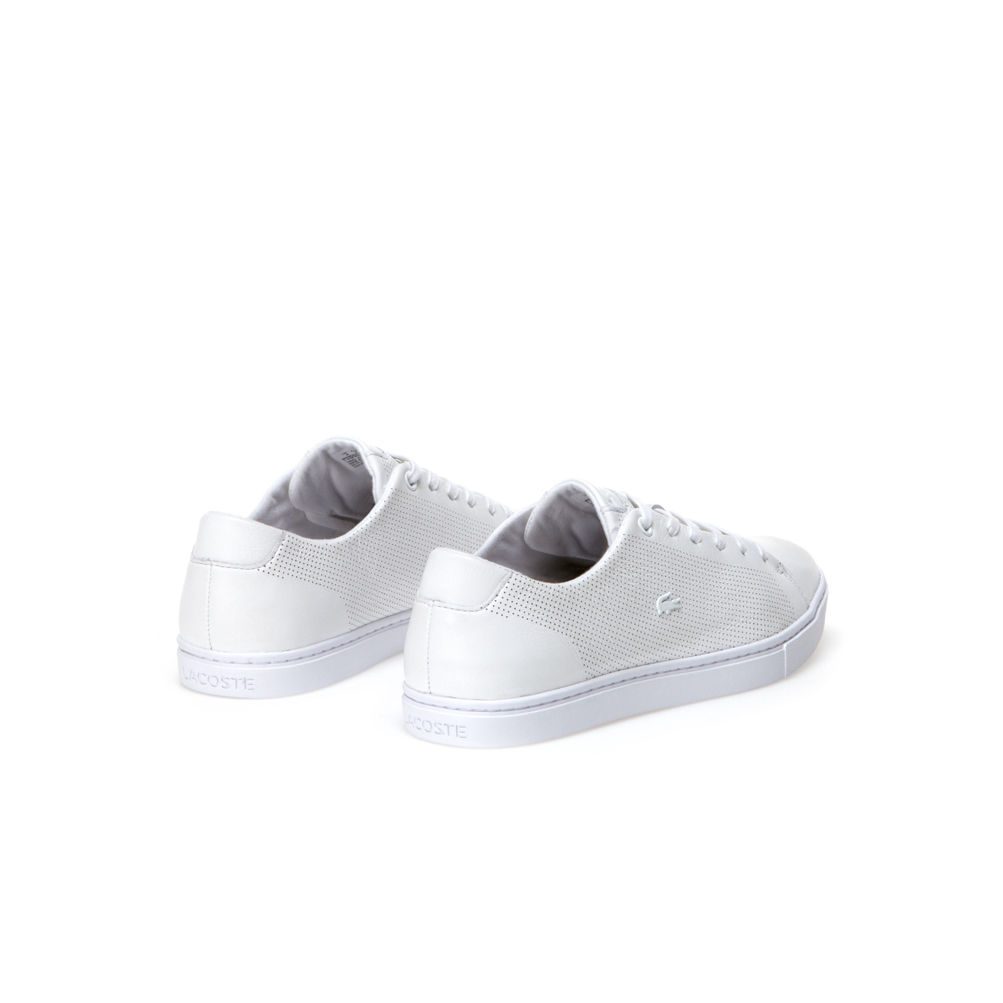 9e72b4ae3cc35 Lacoste Women s Showcourt Leather Sneakers - Natural 7.5