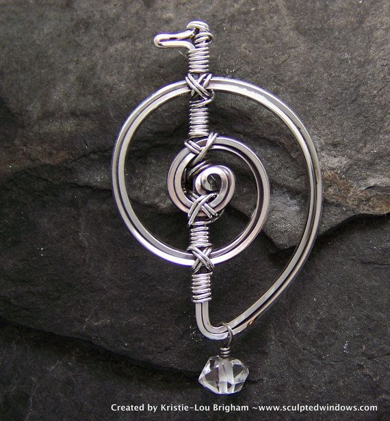 Cho Ku Rei Reiki Symbol Pendant solid by SculptedWindowsJewel