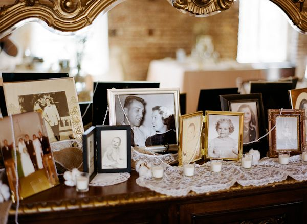displaying family photos at reception | Nathan Westerfield