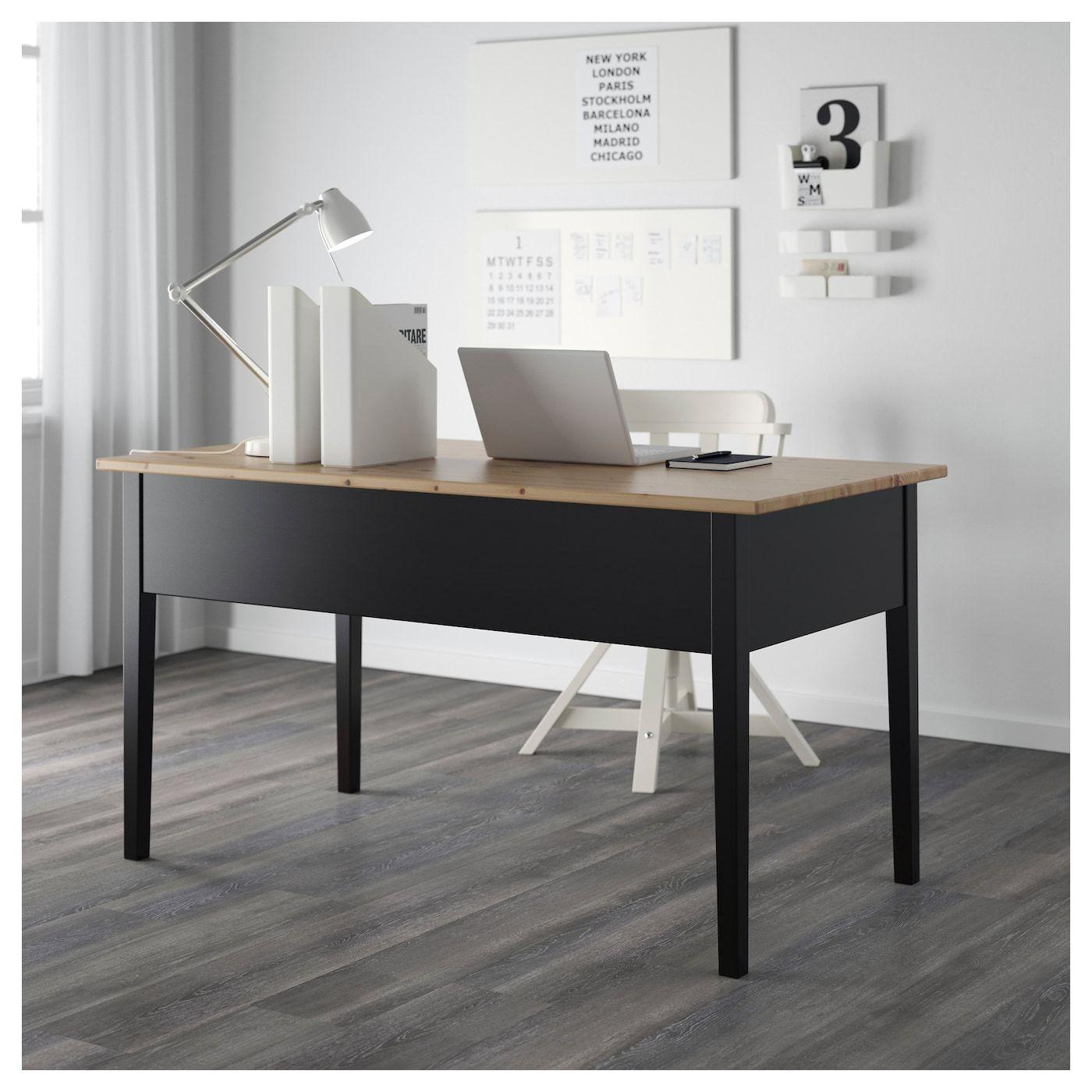 "Desk, black, 55 1/8x27 1/2 "" Home office furniture"