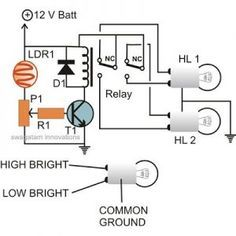 Automatic Vehicle Headlight Dipper/Dimmer Circuit
