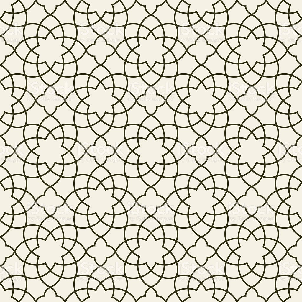 Gorgeous Seamless Arabic Pattern Design. Monochrome Wallpaper or  Background. royalty-free stock vect… | Arabic pattern, Fabric patterns  design, Free vector graphics