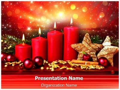 Check out our professionally designed Advent #PPT template - christmas powerpoint template