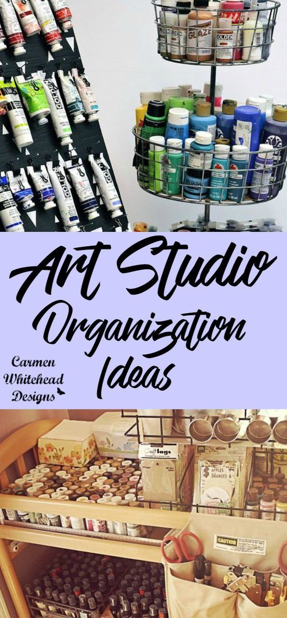 Art Studio or Craft Room Small Space Organization Tips images