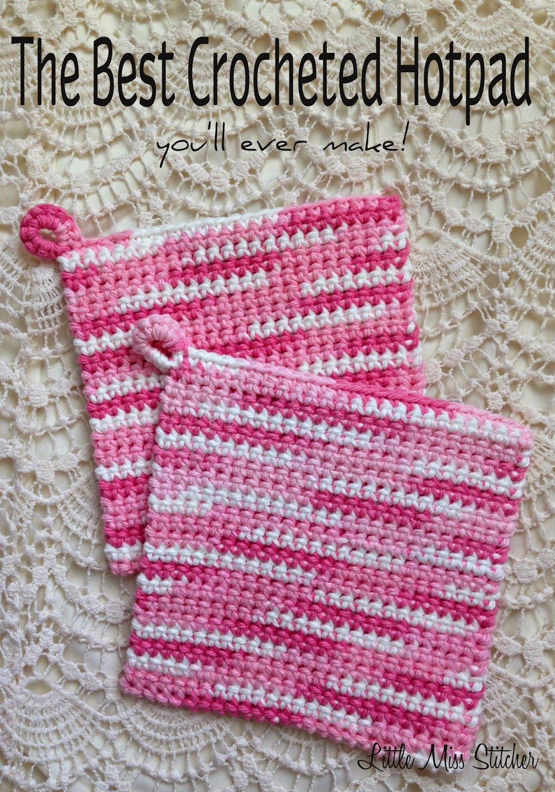 The BEST Crocheted Hotpad You\'ll Ever Make   Blogger Crochet ...