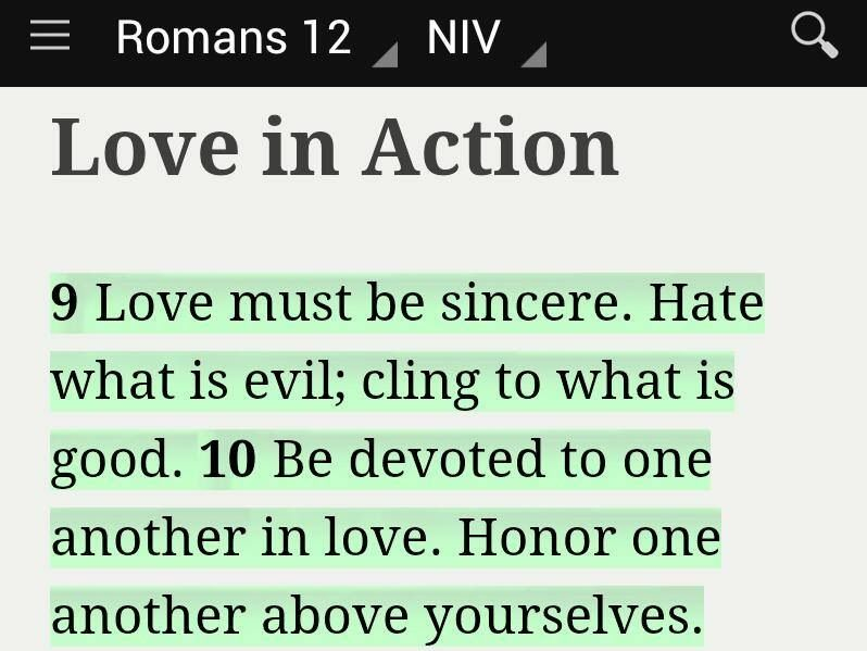 Love In Action Romans 12:9-10