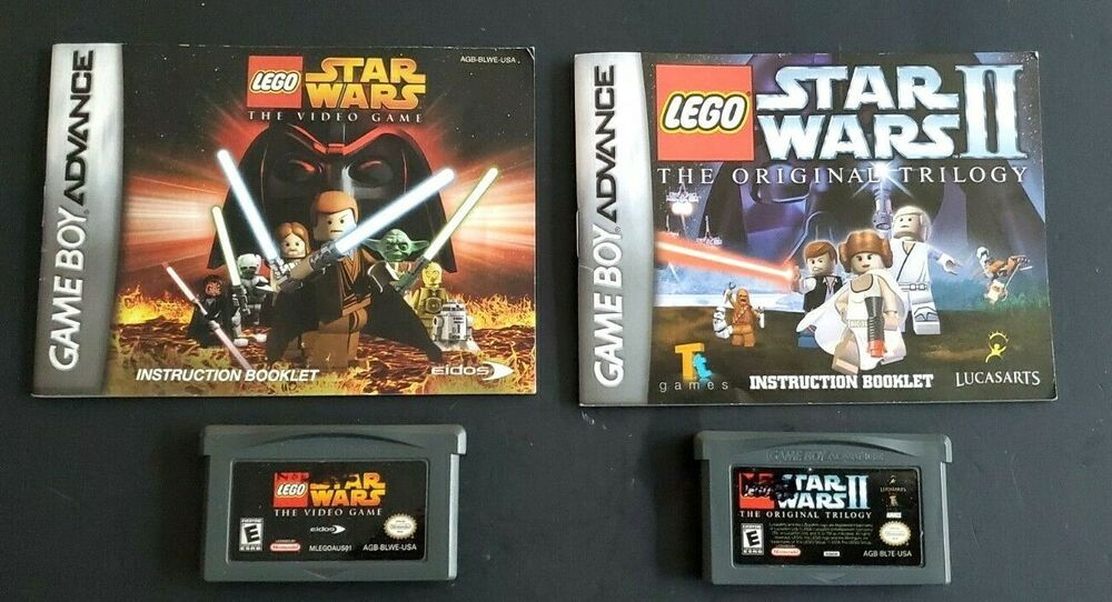 2 Nintendo Gameboy Advance Sp Dsl Lego Star Wars Trilogy Video Game Manual Lego Star Wars Star Wars Ii Nintendo Game Boy Advance