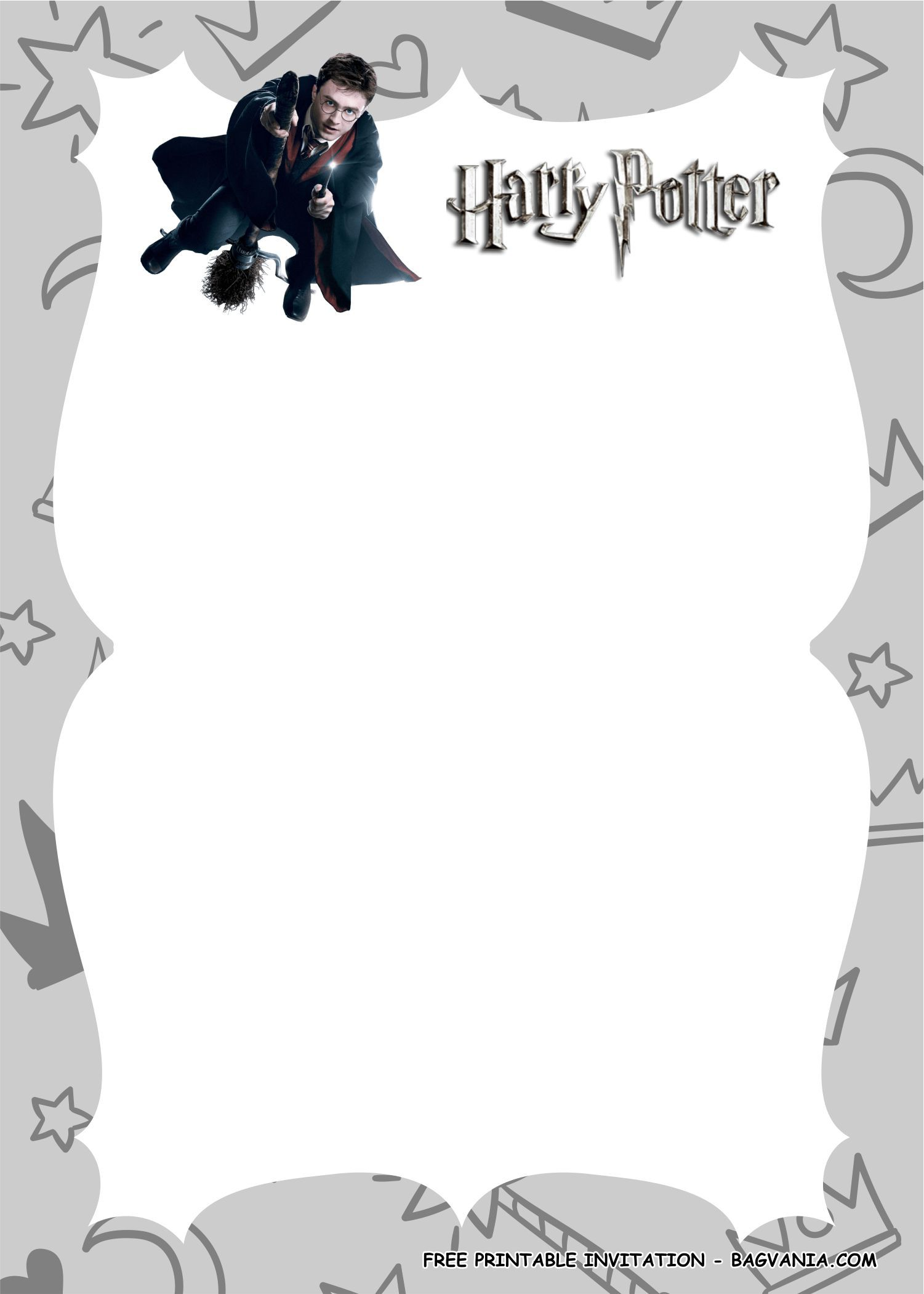 Free Printable Harry Potter Birthday Party Kits Template