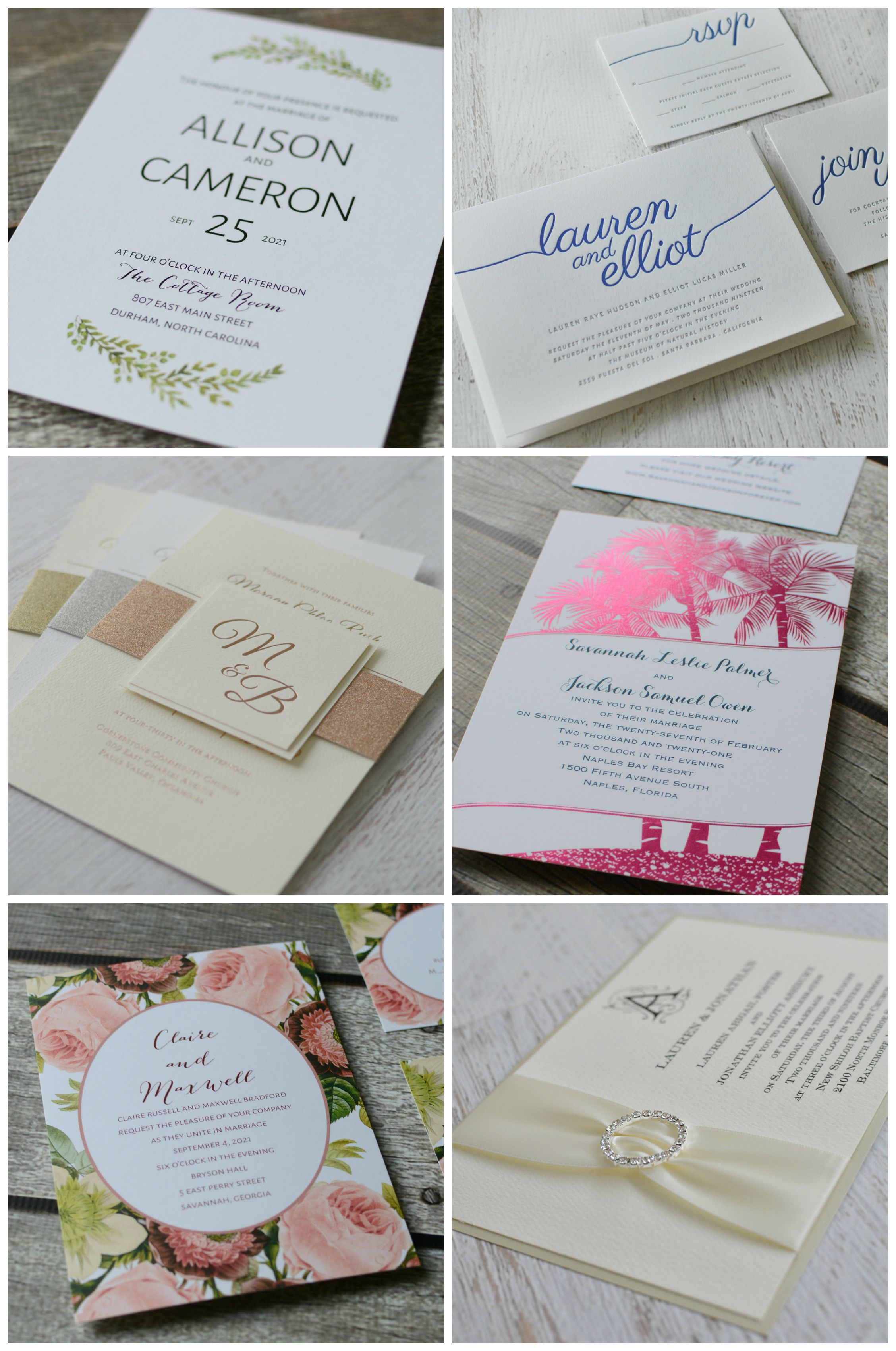 Hundreds of the most unique and gorgeous wedding invitations on