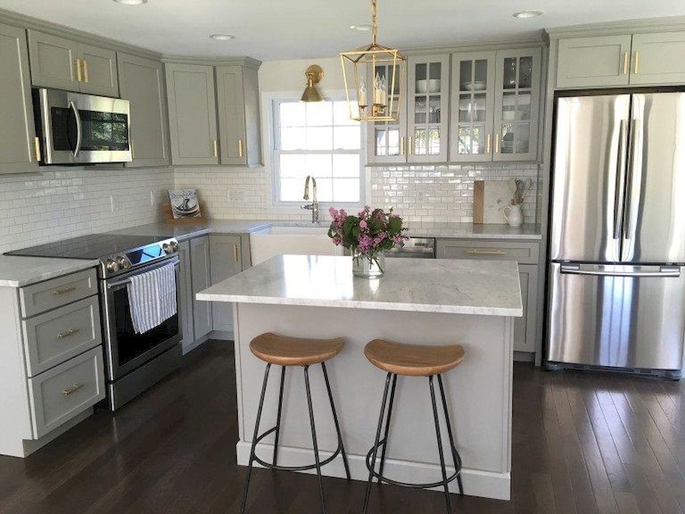 Choose best Color for small kitchen remodel images