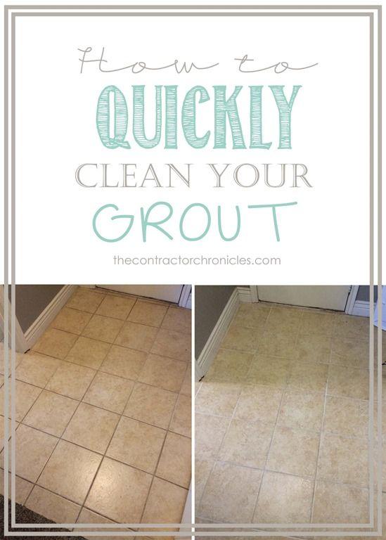 Best 25 cleaning floor grout ideas on pinterest floor for Homemade bathroom tile cleaner