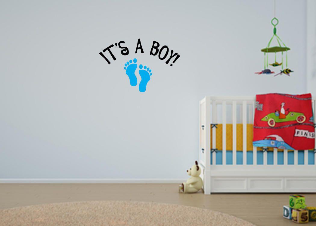 Itu0027s A Boy Wall Decal Baby Boy Banner Baby Boy Shower - Baby Shower Decor -Nursery Decor  sc 1 st  Pinterest & Itu0027s A Boy Wall Decal Baby Boy Banner Baby Boy Shower - Baby ...