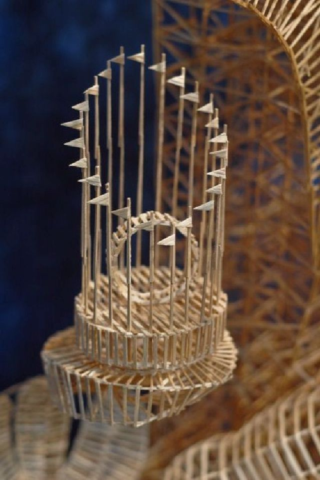 Shangrala S Scott Weaver Toothpick Art Toothpick Sculpture Toothpick Sculpture