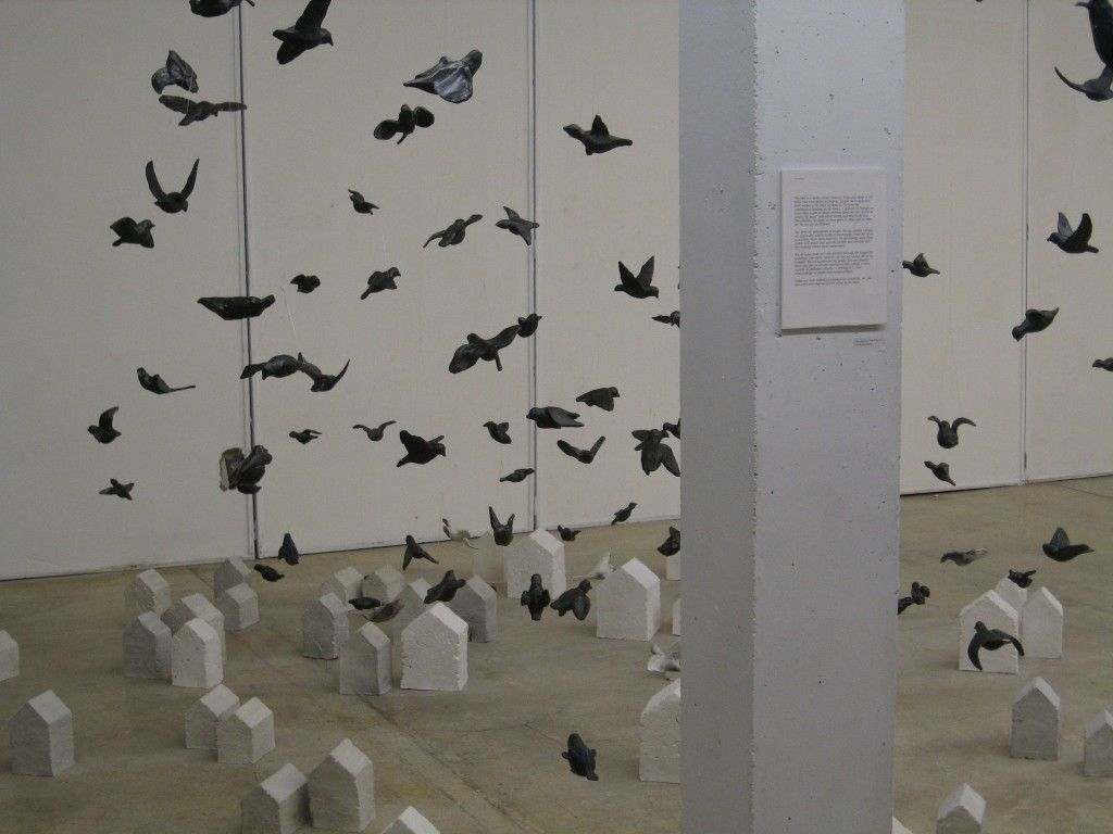 Perfect 100 Clay Pigeons   Art Installation Of 100 Ceramic Sculptures. Http://store.  Outdoor ...
