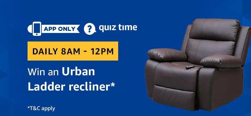 Stupendous Amazon Quiz 26 April 2019 Answers Win Urban Ladder Recliner Machost Co Dining Chair Design Ideas Machostcouk