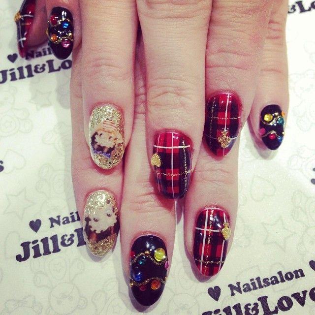 .@jillandlovers | チェック️ビジュー  #jillandlovers@jillandlovers#nail#ネイル#bettyboop#松本モエギ | Webstagram