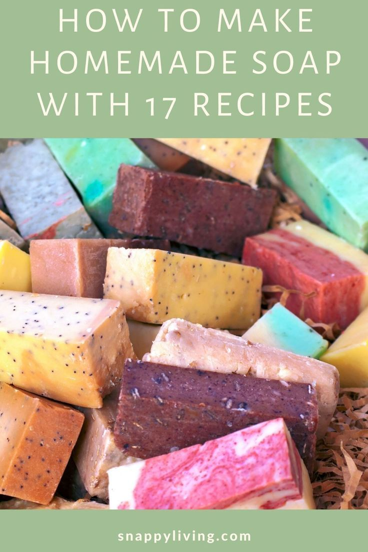 These homemade soap recipes and tips will help you get started making your own soap! Includes eay recipes for cold process and melt and pour soap. DIY soapmaking is a fun craft, and it can save you money, and even be better for your skin. #DIY #homemadeproduct #soap #DIYsoap #decoration #decor
