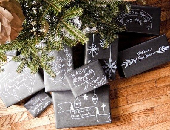 christmas chalkboard packaging from #goinghometoroost