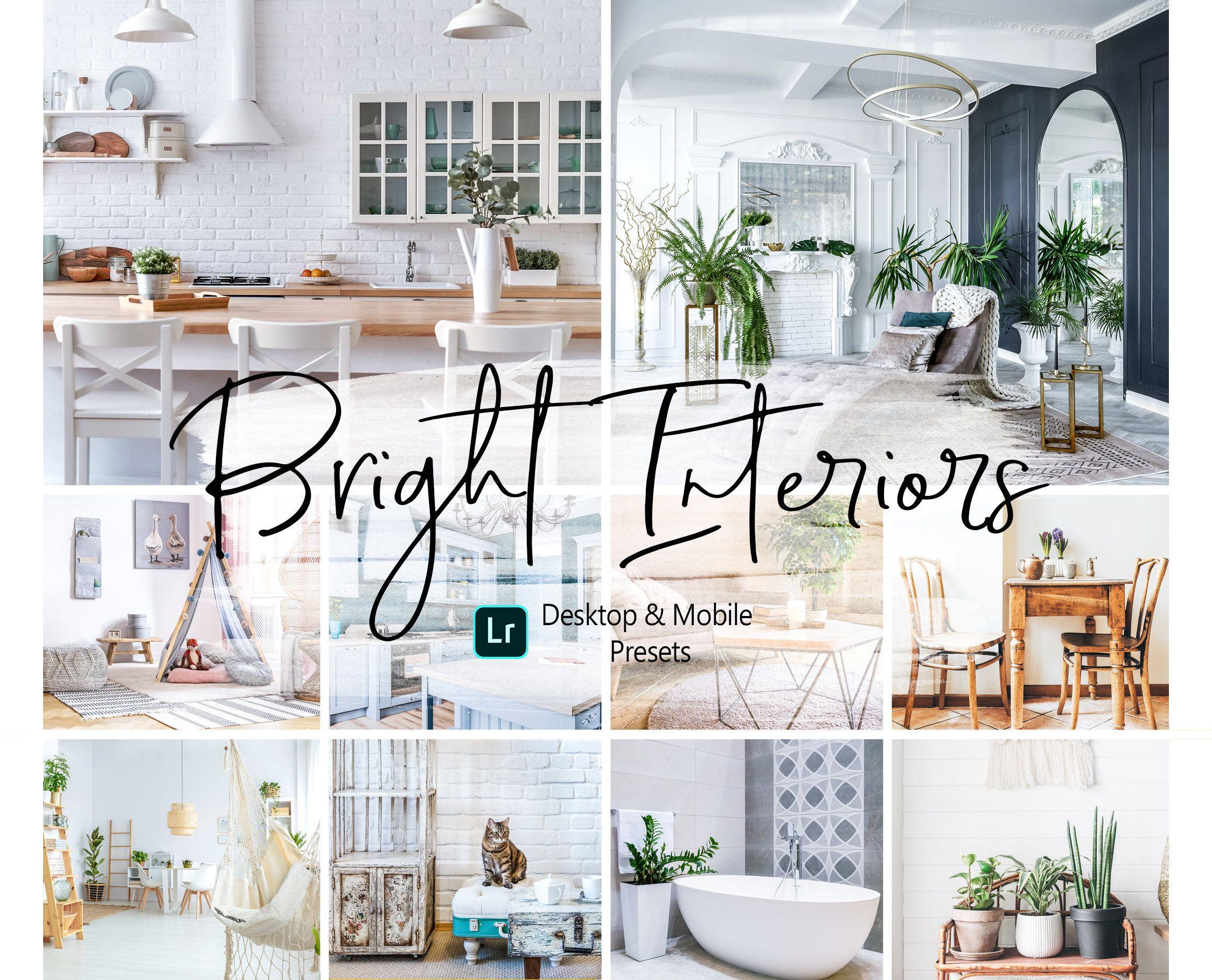 10 Bright Interior Lightroom Presets Desktop Mobile Lightroom
