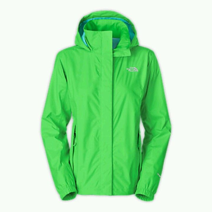 Lime green north face coat