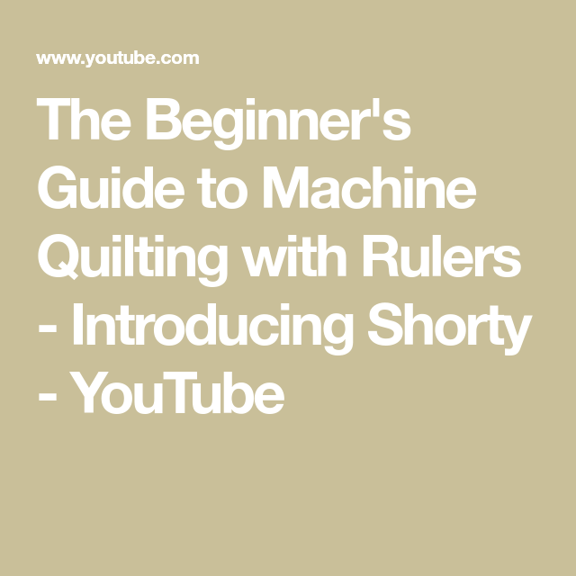 The Beginner's Guide To Machine Quilting With Rulers
