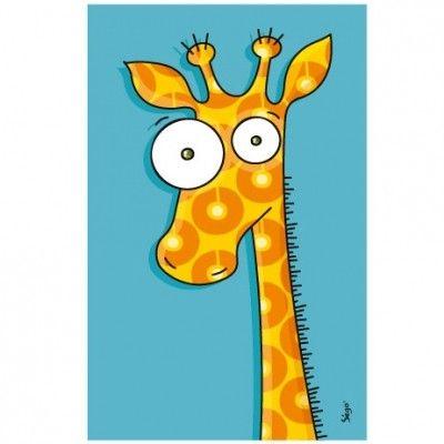 Ce tableau girafe de la marque Série-Golo est un décor plein de