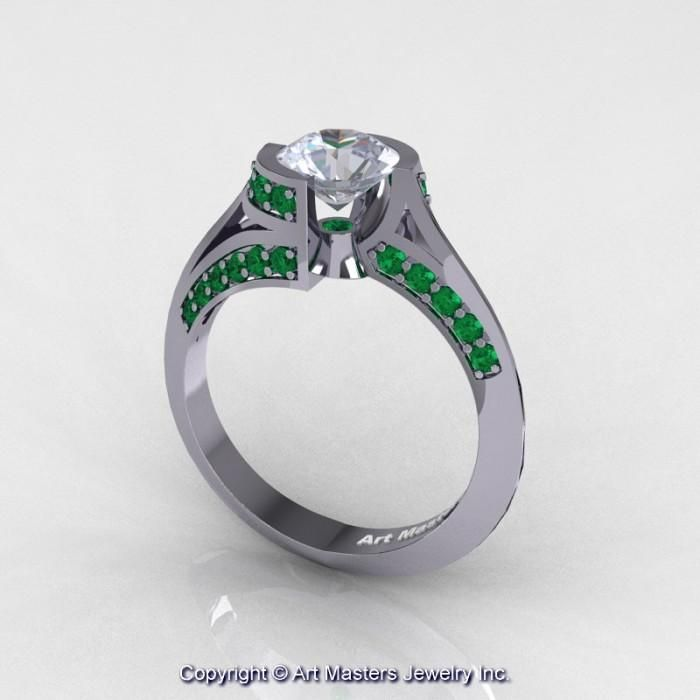 Emerald Gold Engagement Ring Australia 15