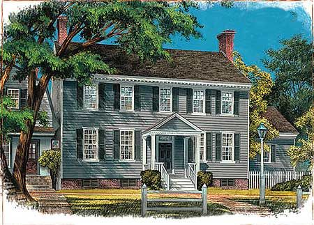 Plan 32510wp Center Hall Colonial Colonial House Plans Colonial House Exteriors Colonial House