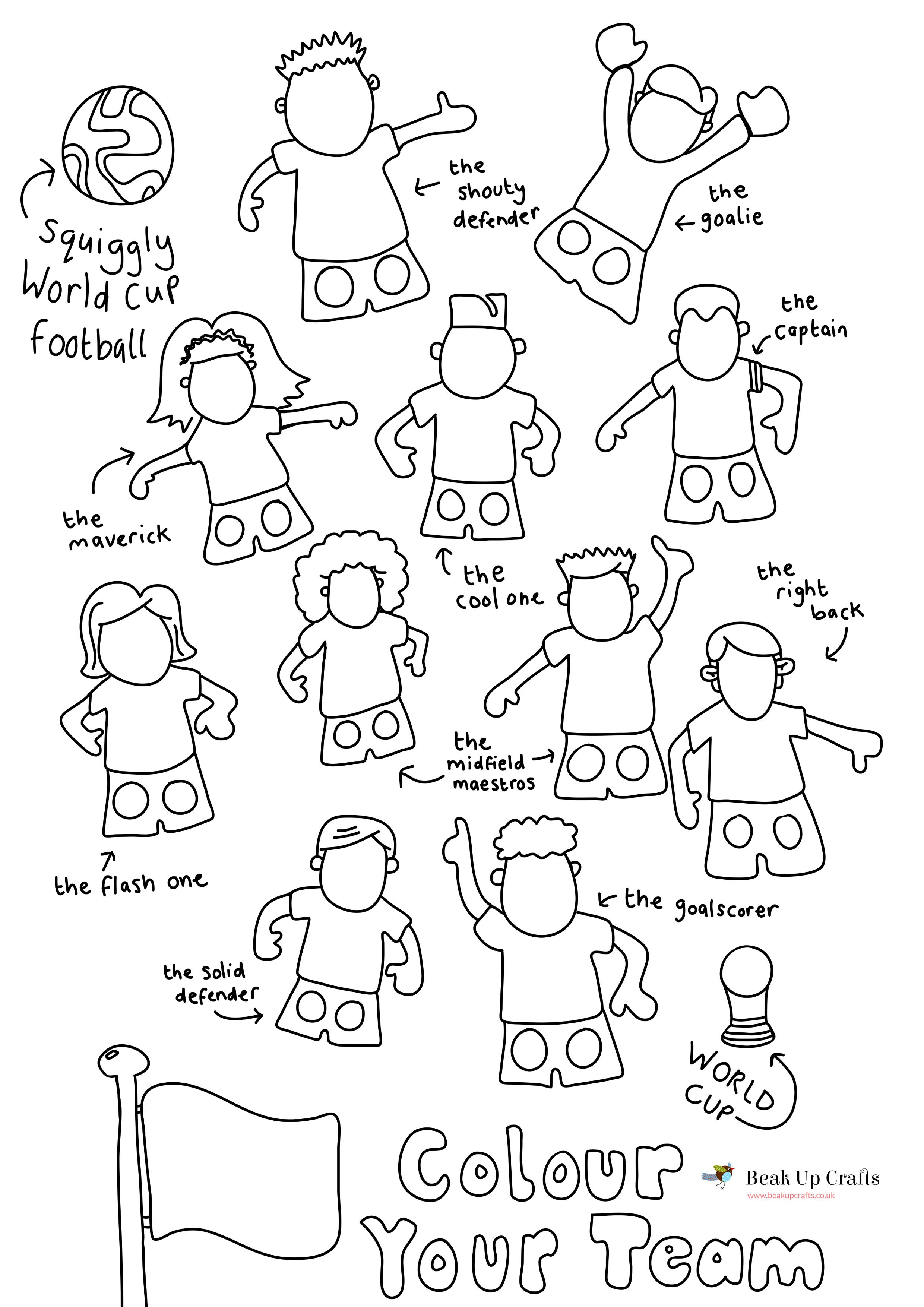 Free Printable World Cup Football Soccer Player Paper