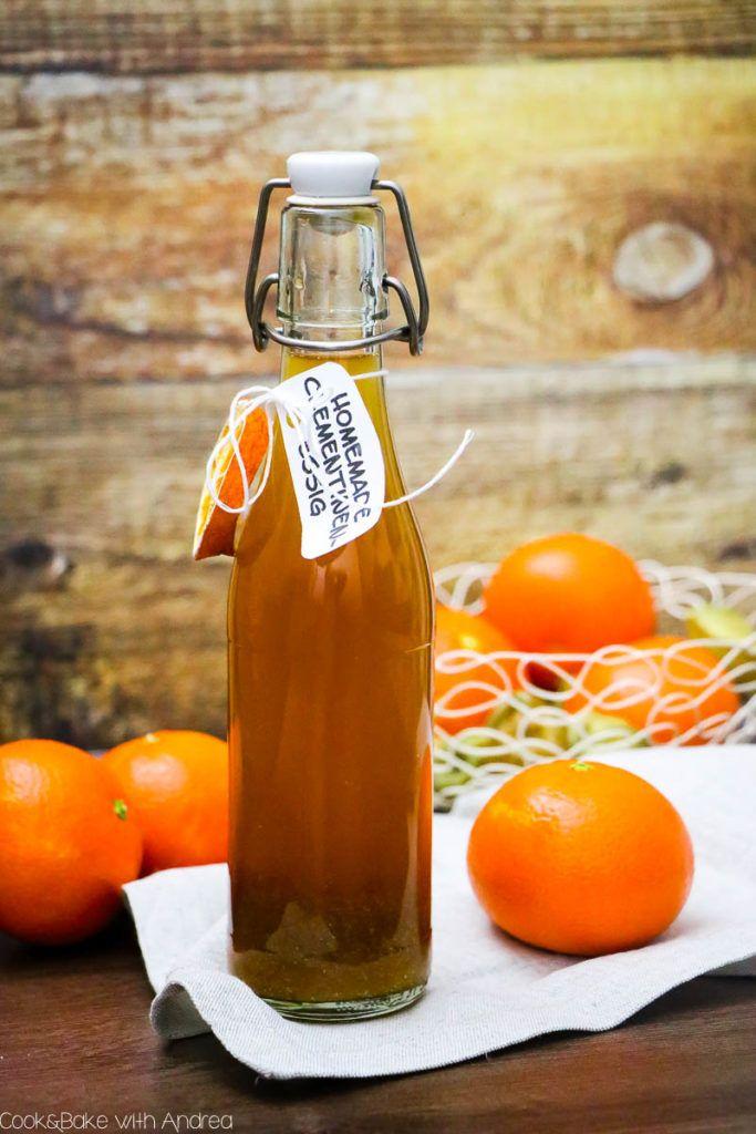 Mandarinen-Essig selber machen #weihnachtsgeschenkeselbermachen