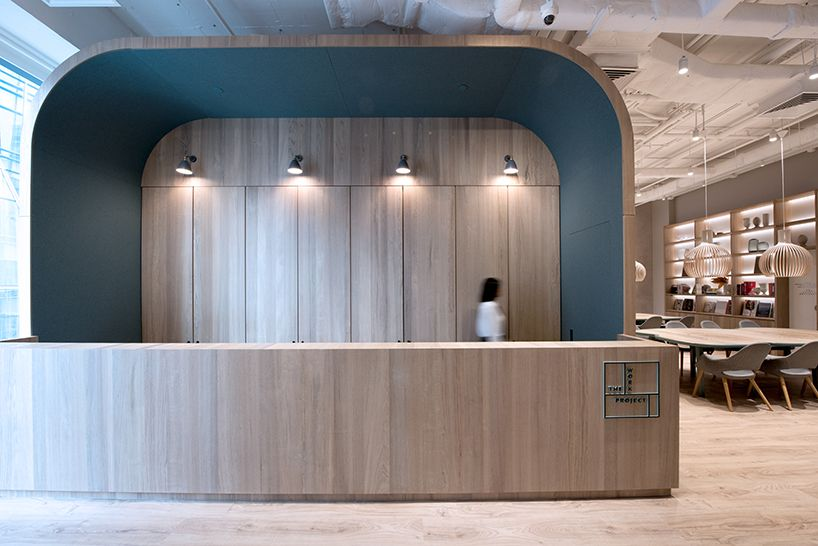 Bean Buro S Latest Co Working Hub Reveals Local History In Hong Kong Corporate Interiors Lobby Design Counter Design