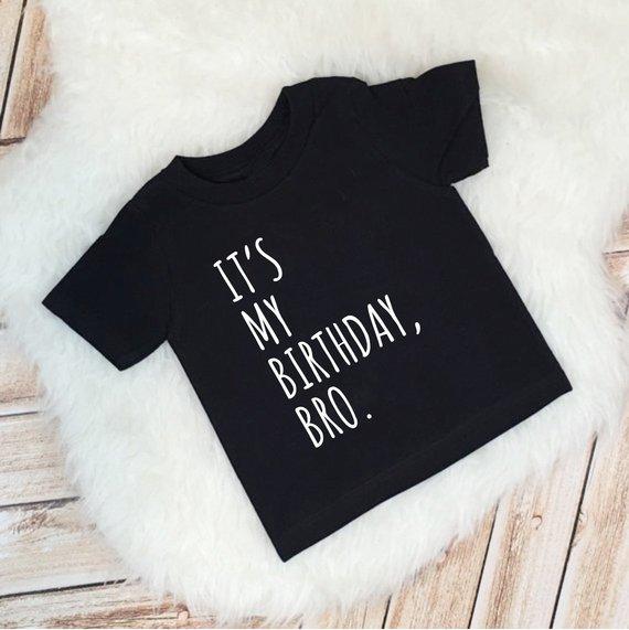 Its My Birthday Bro Boy Outfit 2nd Shirt Boys Bi