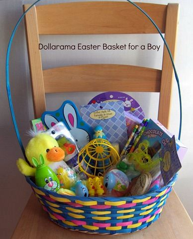 Put Together a Fantastic Easter Basket for Kids at #Dollarama for Under $20 - one option for girls and one for boys - GREAT ideas here!
