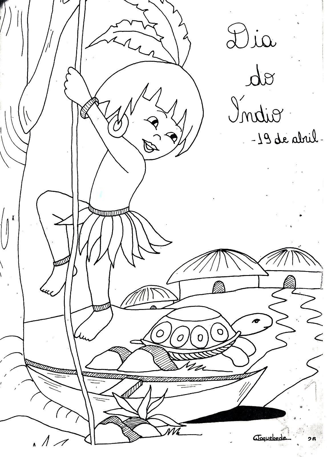 10 Desenhos Para O Dia Do Indio 19 De Abril Em 2020 Dia Do