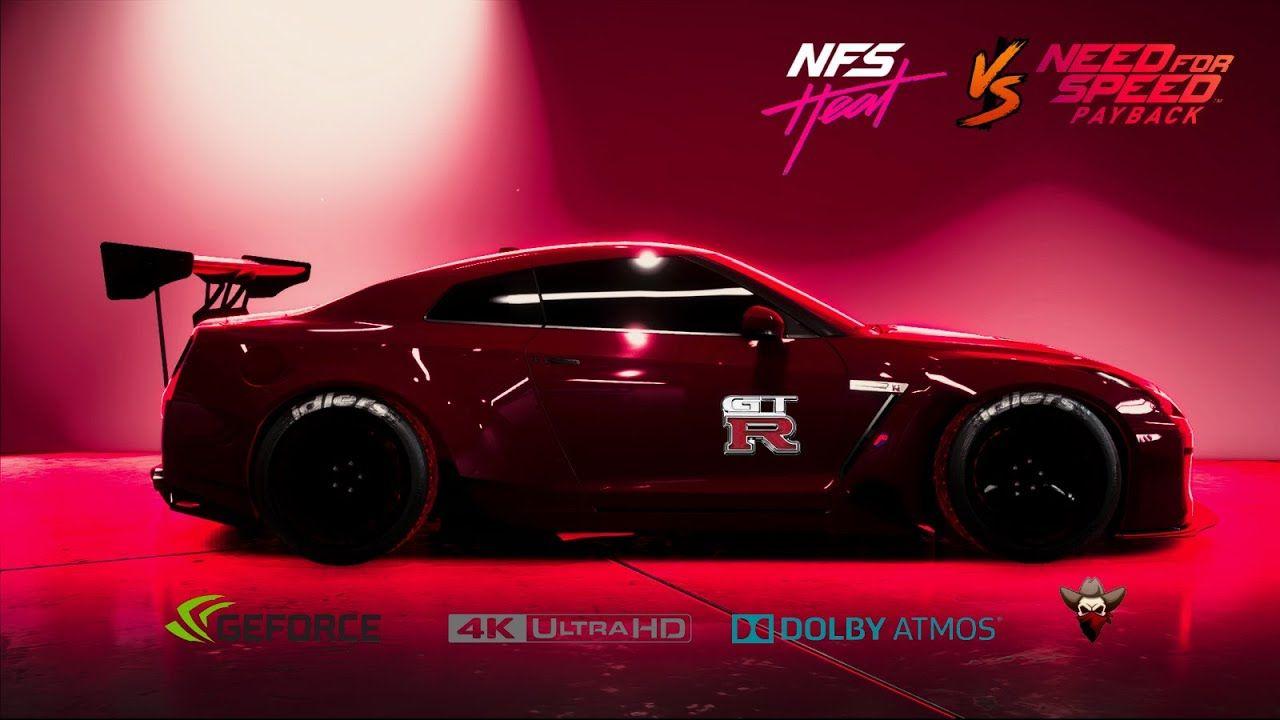 Nfs Heat Vs Payback Nissan Gtr Comparison Side By Side 4k