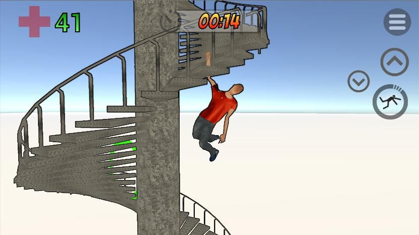 Clumsy Fred ragdoll physics simulation game Meet Fred, a