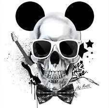 Tete De Mort Made In Mickey Ou Disney Rock Imagem Caveira Caveira Skull Rock